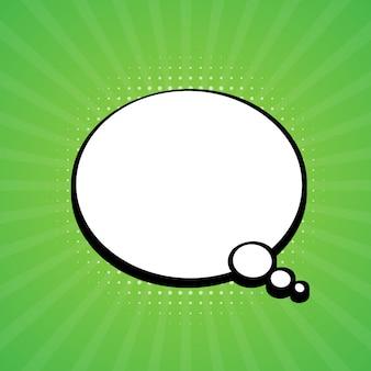 Komische tekstballon. retro burst in popstijl.