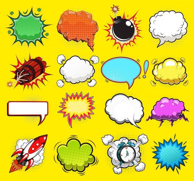 Komische tekstballonnen illustratie
