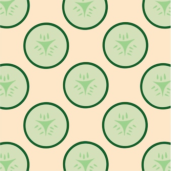 Komkommer patroon achtergrond plantaardige vector illustratie
