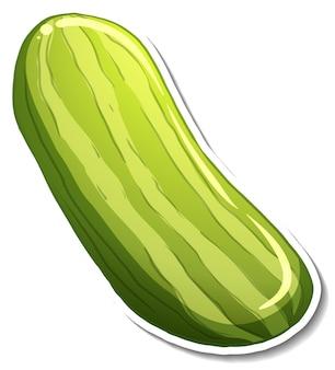 Komkommer sticker op witte achtergrond