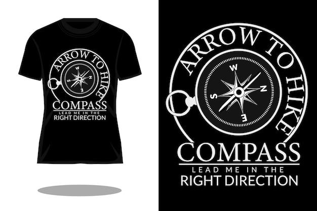 Kompas laat me in de goede richting vintage t-shirtontwerp