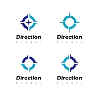 Kompas logo ontwerp inspiratie