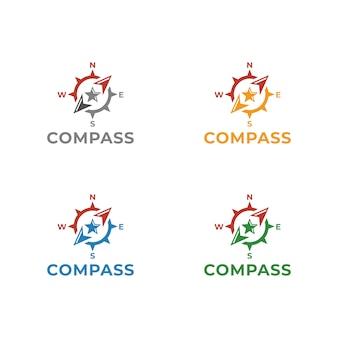 Kompas logo template vector illustratieontwerp