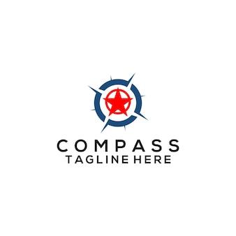 Kompas logo vector. kompas logo sjabloon