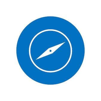 Kompas pictogram plat ontwerp vectorillustratie geïsoleerd op een witte achtergrond