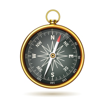 Kompas realistisch geïsoleerd