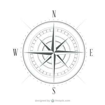 Kompas schets vector