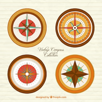 Kompascollectie in vintage stijl