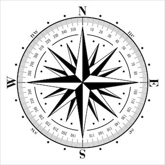 Kompasroos geïsoleerde illustratie