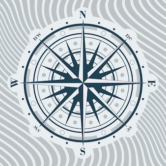 Kompasroos illustratie