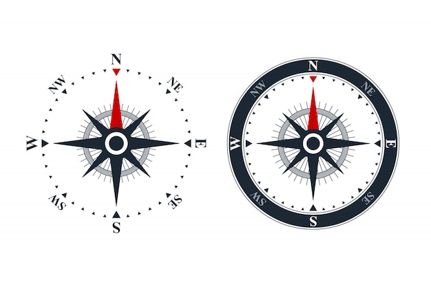 Kompasroos pictogrammen