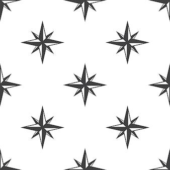 Kompasroos, vector naadloos patroon, bewerkbaar kan worden gebruikt voor webpagina-achtergronden, opvulpatronen