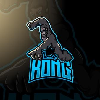 Kong-logo voor esport-gaming of team
