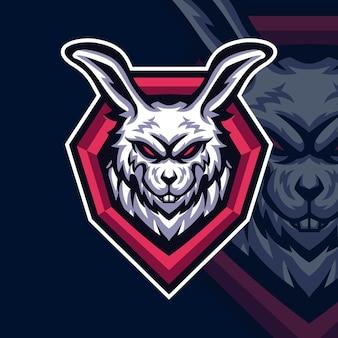 Konijn esport gaming-logo