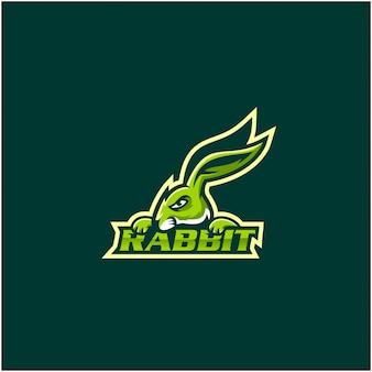 Konijn esports logo ontwerp inspiratie