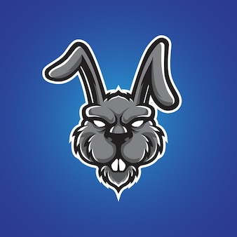 Konijn hoofd logo
