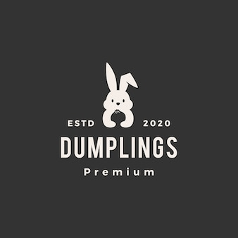 Konijn konijn dumpt hipster vintage logo