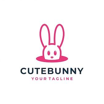 Konijn konijn logo en pictogram.