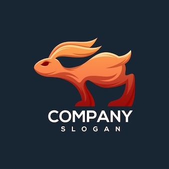 Konijn logo klaar voor gebruik