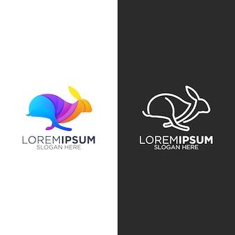 Konijn logo ontwerp vector premium