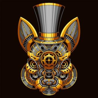 Konijn steampunk illustratie