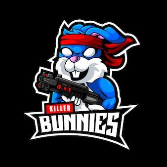 Konijntjes soldaat, mascotte logo