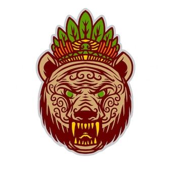Koning beer illustratie