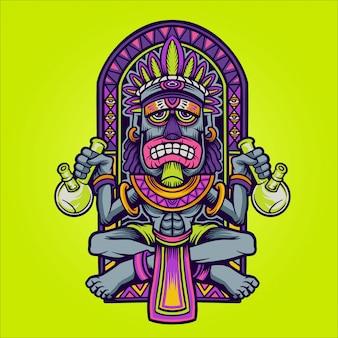 Koning bongbong illustratie