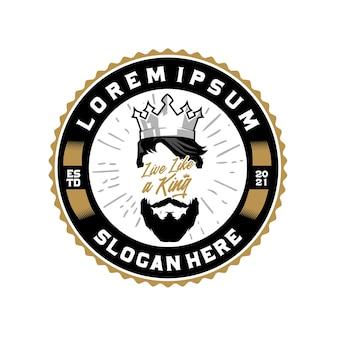 Koning cirkel badge logo