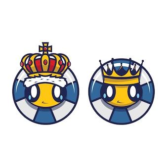 Koning en bijenkoningin pictogrammen