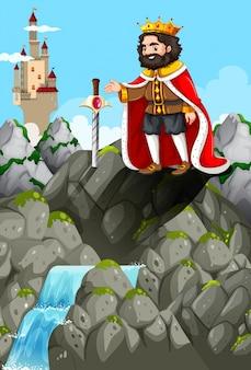 Koning en zwaard in de steen