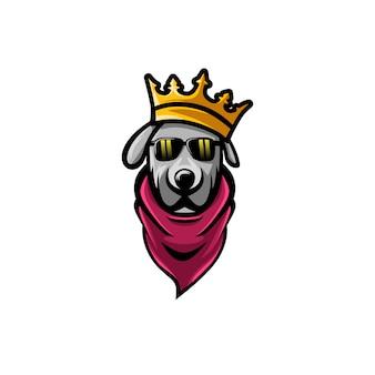 Koning hond eenvoudige premium vector