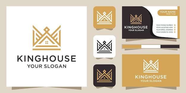 Koning huis logo ontwerp inspiratie