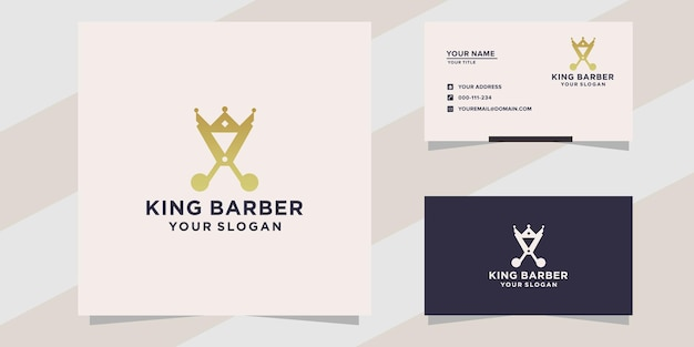 Koning kapper logo sjabloon