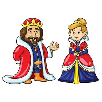 Koning koningin cute cartoon