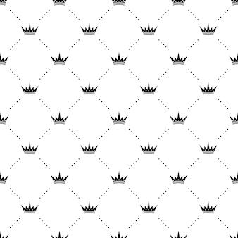 Koning kronen naadloos patroon