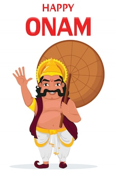 Koning mahabali. gelukkig onam-festival in kerala