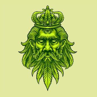 Koning marihuana hoofd