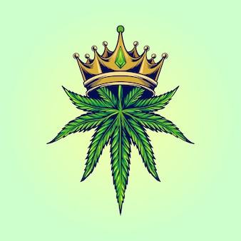 Koning marihuana-logo