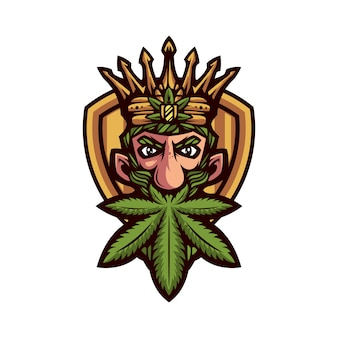 Koning marihuana mascotte