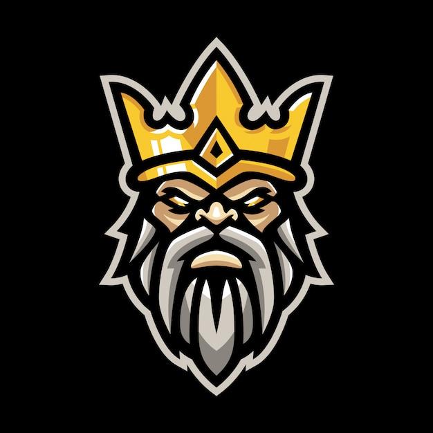 Koning mascotte logo