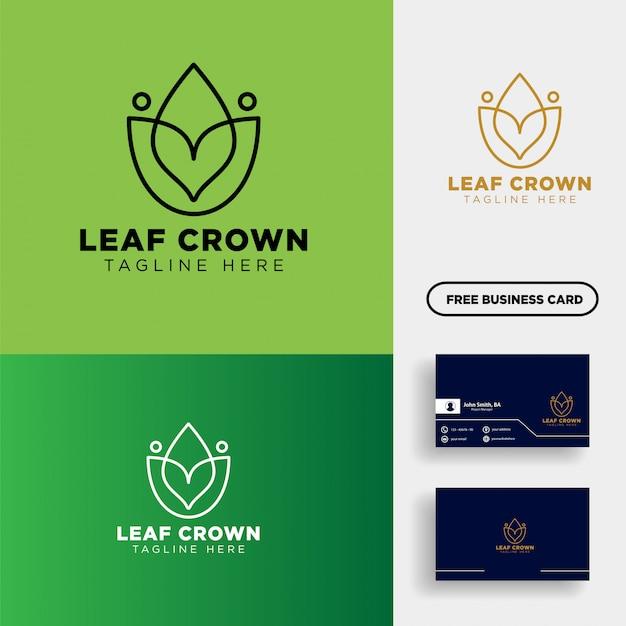 Koning of koninklijke landbouw logo sjabloon vectorillustratie