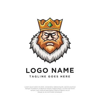 Koning ontwerp logo mascotte