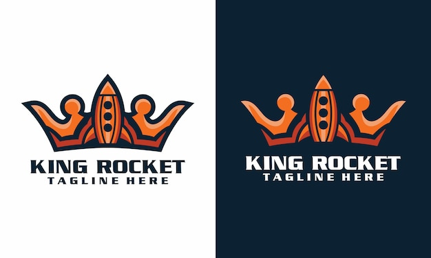 Koning raket logo sjabloon