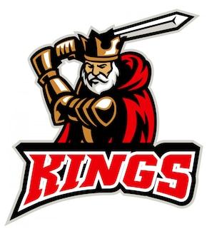Koning ridder mascotte
