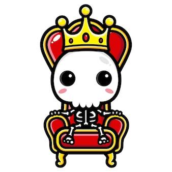 Koning schedel karakter ontwerp
