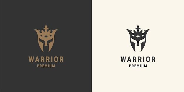 Koning spartaanse kroon logo crown