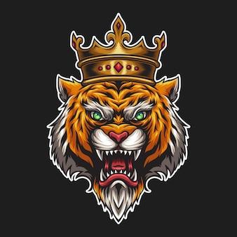Koning tijger illustratie