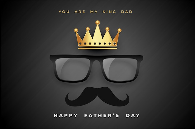 Koning vader vaders dag concept poster achtergrond