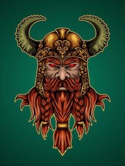 Koning van de illustratie van viking